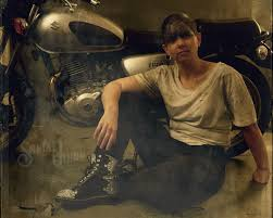 An aged, antique photo effect on this one from Jane's Furiosa-inspired  portrait session. Her motorcycle makes a gr… | Portrait photography,  Portrait, Antique photos