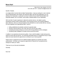 Customer Service Rep Cover Letter Latter Day Concept Sales