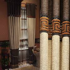 custom made luxury greek key linen curtains with tassels traditional chinese style curtains living room eco