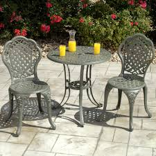 bistro table and two chairs set outdoor chair glass bistro