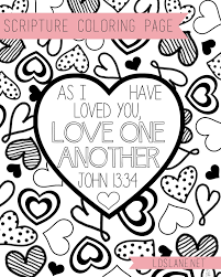 Each sheet shows the importance of god's love. Scripture Coloring Page Love One Another