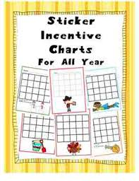 Sticker Charts For Good Behavior Sticker Charts For Good Behavior All Year Set