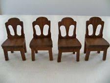 dollhouse dining room furniture. VINTAGE STROMBECKER WOOD DOLLHOUSE FURNITURE Dining Table Tall Lamp Credenza | Dollhouse Furniture, Woods And Bear Doll Room Furniture