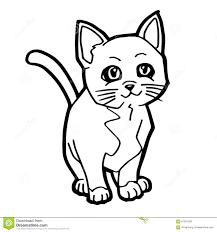 Page De Coloration De Chat Et De Chaton Pour L Enfant Illustration Coloration Enfant L