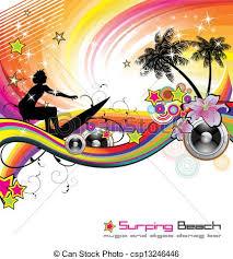 Art Event Flyer Tropical Music Event Flyer