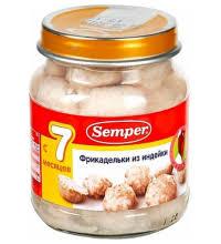 Детские мясные пюре купить детское питание с мясом в Москве в  Детское пюре semper фрикадельки из индейки с 7 мес 125 г