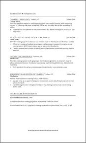 Lpn Resume Sample Awesome Template No Experience In Interesting With