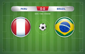 Enjoy the match between peru and brazil taking place at fifa on october 13th, 2020, 8:00 pm. Premium Vector Peru Vs Brazil Scoreboard Broadcast Soccer South America S Tournament 2019 Group A