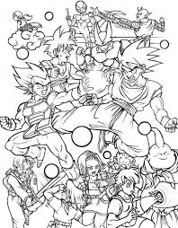 Small Picture All characters in Dragon Ball Z free printable coloring page