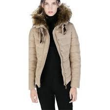 Pre-owned Zara Quilted Anorak Fur Hood Duck Down Feather San ... & Pre-owned Zara Quilted Anorak Fur Hood Duck Down Feather Sand Jacket New M  Coat Adamdwight.com