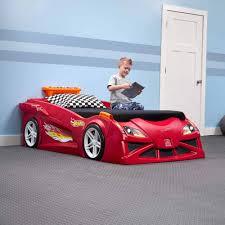 Race car bedroom furniture Kid Car Bed Walmartcom Step2 Hot Wheels Convertible Toddler To Twin Bed Red Walmartcom