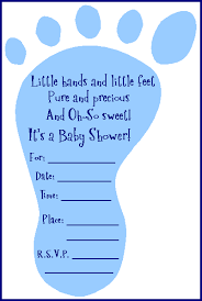 Free Baby Shower Invitations Printable Free Adorable Baby Shower Footprint Invitation