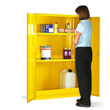 Yellow Flammable Cabinet Flammable Cabinet 1525 H X 915 W X 457 D Mm