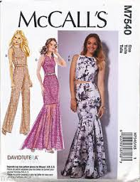 Mermaid Dress Pattern Magnificent MCCALLS SEWING PATTERN 48 MISSES 4848 MAXI DRESS TOP MERMAID
