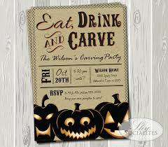 Pumpkin Invitations Template Items Similar To Pumpkin Carving Party Invitation Kraft Invitation
