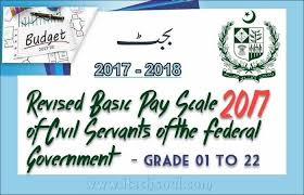 Revised Basic Pay Scale 2017 Of Civil Servants Of The