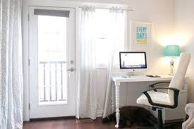 white home office. Office:Pretty Decoration Small Home Office Decorations Using Brown Wooden Table Including White
