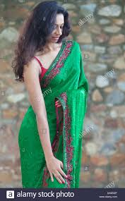 Indian typical aunty outdoor saree
