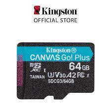 Thẻ nhớ Kingston Canvas Go Plus V30 MicroSD 64GB cho di động Android,  camera, flycam và sản xuất video 4K SDCG3/64G