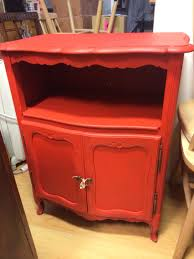 brightly painted furniture. Brightly Painted Vintage Furniture Looks Incredible. This Is Autentico Chalk Paint \u0027Think Red\u0027 O