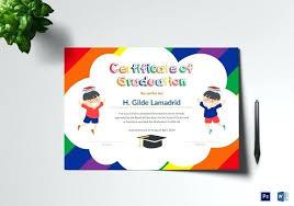 Sample Kids Graduation Certificate Template Preschool Certificates