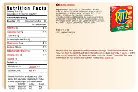 Ritz Crackers Nutrition Chart Food Labels Whats In The Box Nourish Evolution