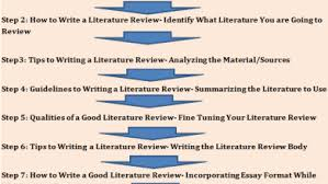 literature review a step by step guide on how to write a good literature review