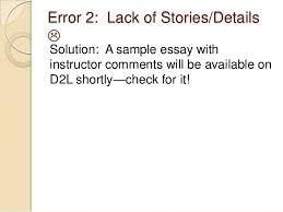 literacy narrative drafts recurring errors 7