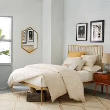 Stella Metal Bed - Brass | west elm