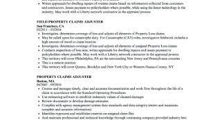 Claims Adjuster Resume Job Description For Claims Adjuster Insurance
