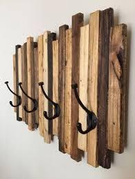 Handmade Wooden Coat Rack Reclaimed Coat Rack with Railroad Spike Hooks and Shelf Railroad 2