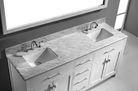 gray double sink vanity. virtu usa md-2072-wmsq-wh caroline 72-inch bathroom vanity with double square sinks in white and italian carrera marble - gray sink