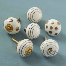 white gold silver ceramic cupboard door knobs by pushka home ...