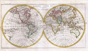 World Map Posters Two Hemispheres Geographicus World Map