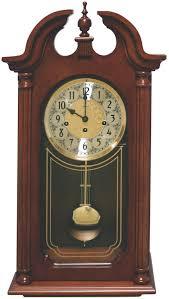 hermle 70820 n90341 hopewell windup chiming wall clock american cherry
