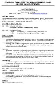 Cv For Part Time Job Download Bradford Cv Template For Free Formtemplate