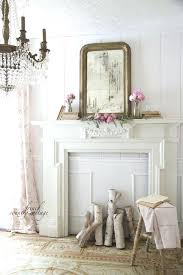country mantel decorating ideas cottage style fireplace mantels crystal chandelier and faux fireplace french country co