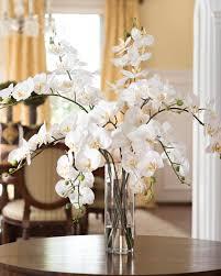 Grand Phalaenopsis Orchid<br>Artificial Flower Arrangement WHITE