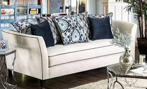 Off white sofa Sectional Sofa Chantal Offwhite Sofa Main Image 1stopbedrooms Furniture Of America Chantal Offwhite Sofa Chantal Collection