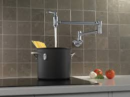 filler delta faucet 1177lfar wall mount pot filler faucet arctic stainless faucets canada inside kitchen