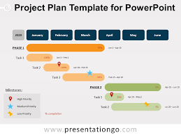 Sample Project Plan Outline Project Plan Template For Powerpoint Presentationgo Com