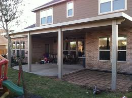 pearland covered patio under construction
