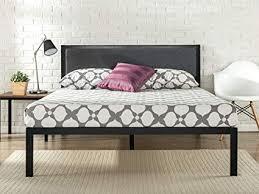 bed frame no headboard. Contemporary Headboard Zinus 14 Inch Platform Metal Bed Frame With Upholstered Headboard Mattress  Foundation Wood Slat In No Headboard H