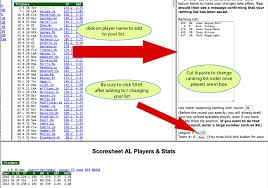 Hockey Score Sheet Delectable Scoresheet Fantasy Baseball Web Drafts
