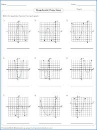 graphing functions worksheets function table worksheets graphing quadratic function worksheets feature identifying zeros read the graph and write the