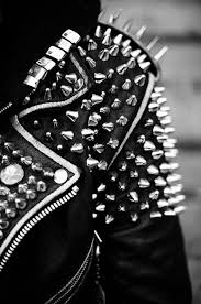 i love that the 80s punk style came back i m obsessed with anything black and spiked add leather yum