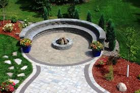 patio pavers with fire pit. Outdoor Patio Paver Fire Pit Area Design Ideas Pavers With