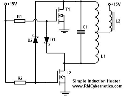 simple diy induction heater rmcybernetics induction heater schematic