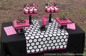 Pink And Black Minnie Mouse Decorations Similiar Pink Minnie Mouse Party Ideas Keywords