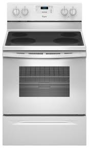 white electric range. Ft. Freestanding Electric Range - White Larger Front O